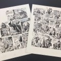 """Two pages from the Robin of Sherwood Look-In strip, """"Beasts from the Past"""", with art by Mike Noble, published in 1986, up for auction on Catawiki"""
