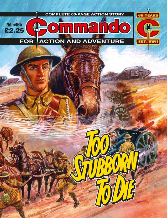 Commando #5465: Too Stubborn To Die - cover by Manuel Benet