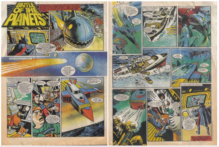 """""""G-Force Battle of the Planets"""" - TV Comic No. 1532 - art by Keith Watson - as published in the comic. With thanks to Paul Scoones"""