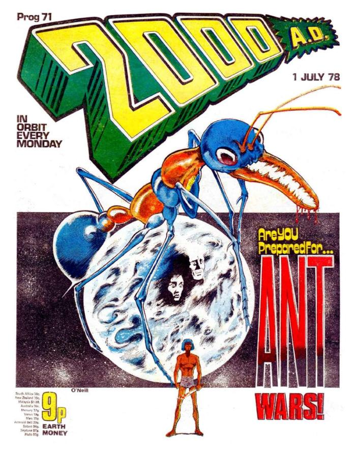 """2000AD Prog 71, cover dated 1st July 1978, featuring """"Ant Wars"""""""