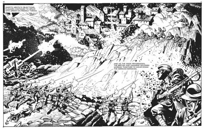 "Art by  Alberto Saichann for Commando 5473, ""Divergent Empires"""