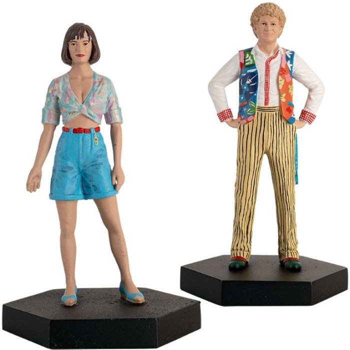 Hero Collector - Doctor Who Peri and Sixth Doctor Figures