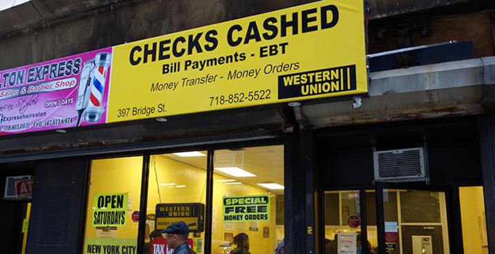 Check Cashing Service  Downtown Brooklyn