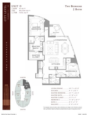 "Austonian Floor Plan ""D"""