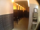 The women's restroom at the Topfer Theatre. Quite an upgrade from the old theatre!
