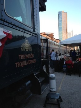 Patron Tequila Express with The Spring Condos in the Background. Photo by Mitchell McGovern.