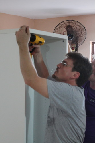 When it comes to cabinet assembly pros like Mark make it look easy