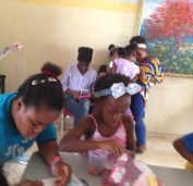 Craft time at Remar orphanage