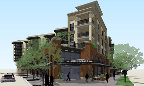 Developed by Metro West, this rendering shows one angle of the Union at Roosevelt project. (Courtesy of Sustainable Communities Collaborative)