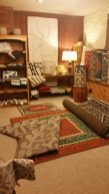 The Krgyz Rug Room downstairs at Aizada Imports