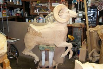 Carved Big Horn Sheep