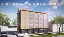 five story office building rendering