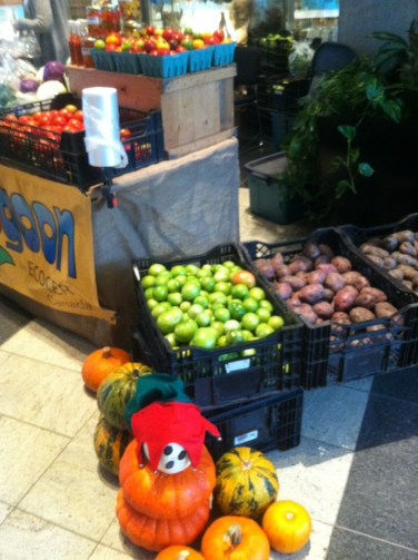 Tons of fresh veggies you can buy on your lunch hour
