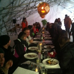 The main dining room at RAW Almond 2014