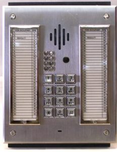 A simple entrance buzzer like this allows tenants to let guests into the building without going downstairs.