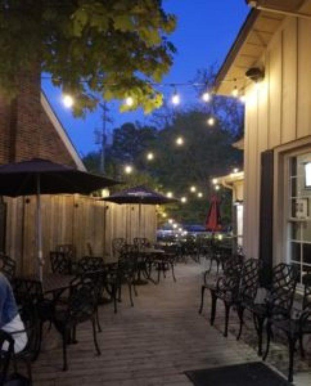 Corrado's patio in downtown Brooklin.