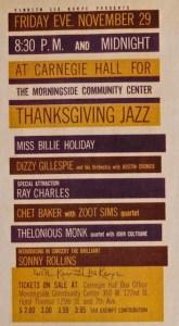 Monk Coltrane Carnegie Poster