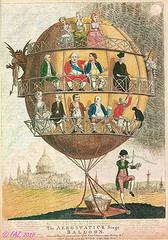 'The aerostatick stage balloon' von / from Joh...
