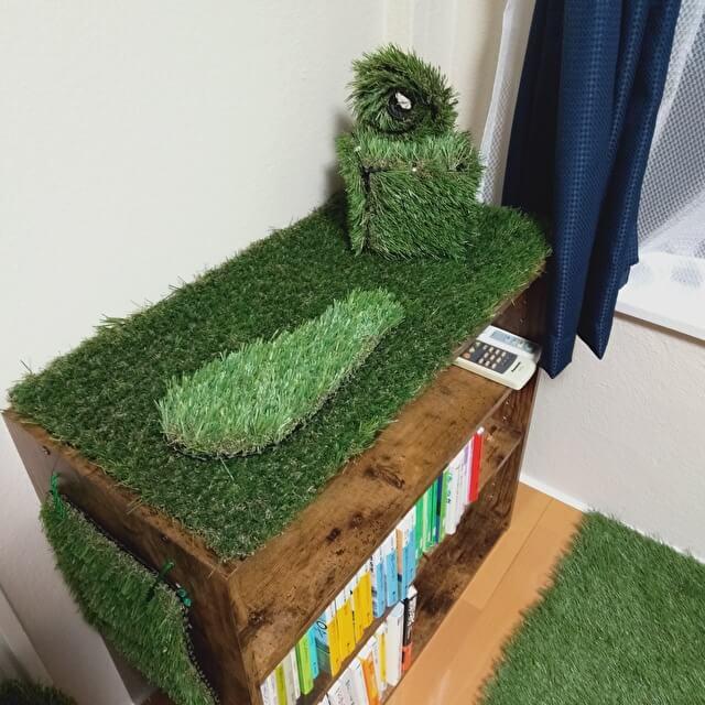 人工芝でお部屋に緑の彩りを~使用後②