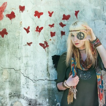 A young hippy girl