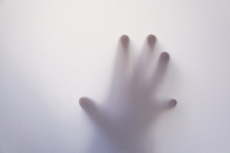 A picture of a ghostly hand.