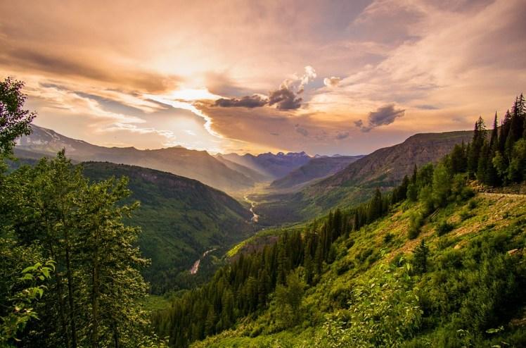 lush mountain valley