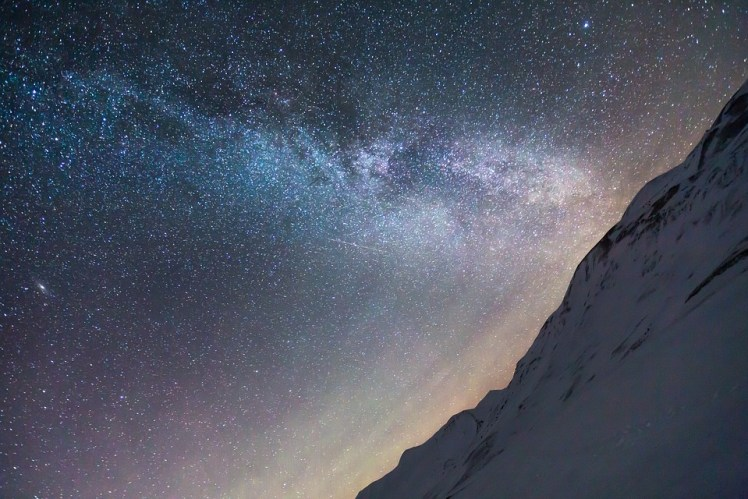 The Milky Way shining over the Artic Pole