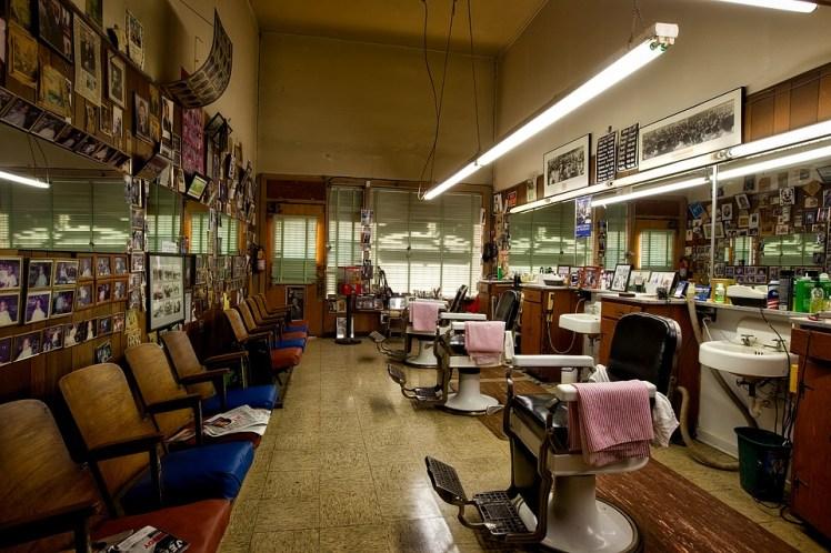 A barber shop.