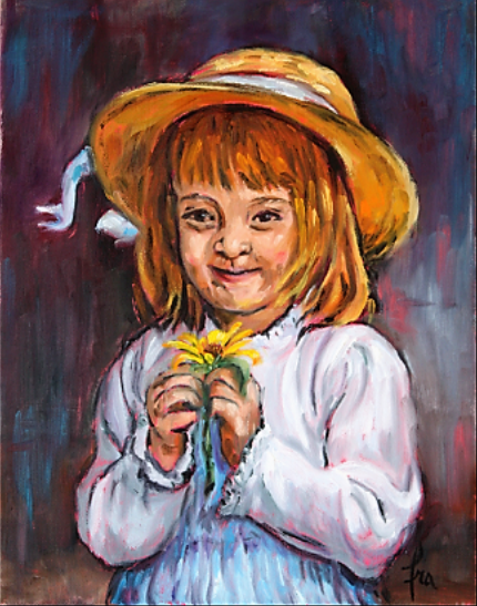 Artists rendering of a little girl.