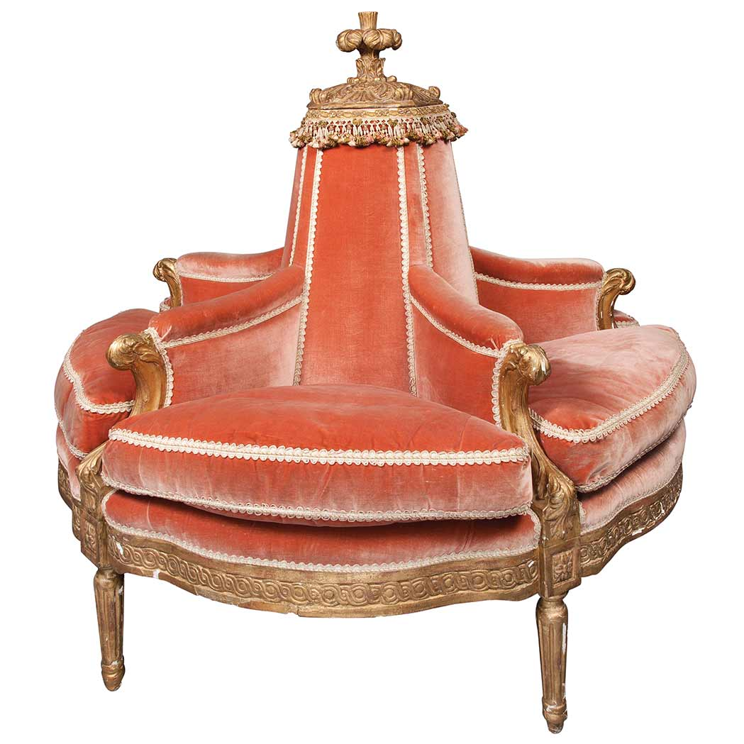 doctor sofa bronx design living room with red louis xvi carved and gilt beechwood boudeuse for sale at