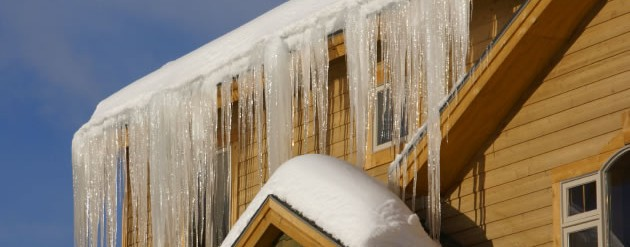 icicles forming on roof