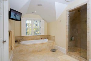 photo of tub and shower
