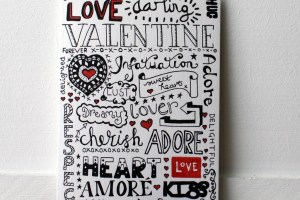 Doodle Love Valentines Card