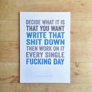 write that down