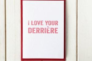 derriere greetings card