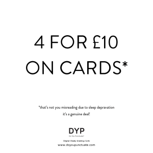 4 cards for £10