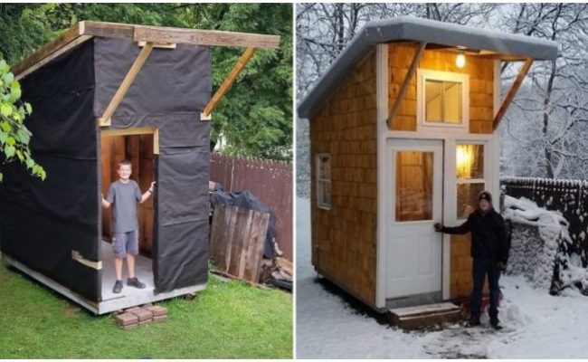 13 Year Old Boy Built His Very Own Tiny House Only Spent
