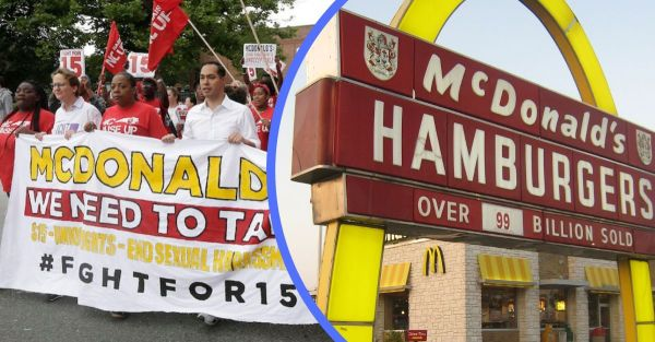 McDonald's Workers Go On Strike To Protest Pay Below ...