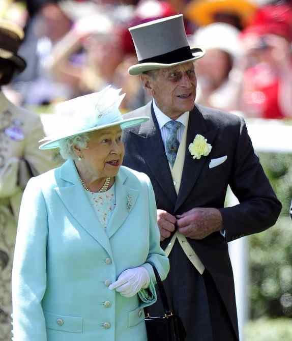 Queen Elizabeth II and Prince Philip, Duke of Edinburgh at Ladies Day