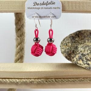 Boucles d'oreilles pomme de touline drisse rose