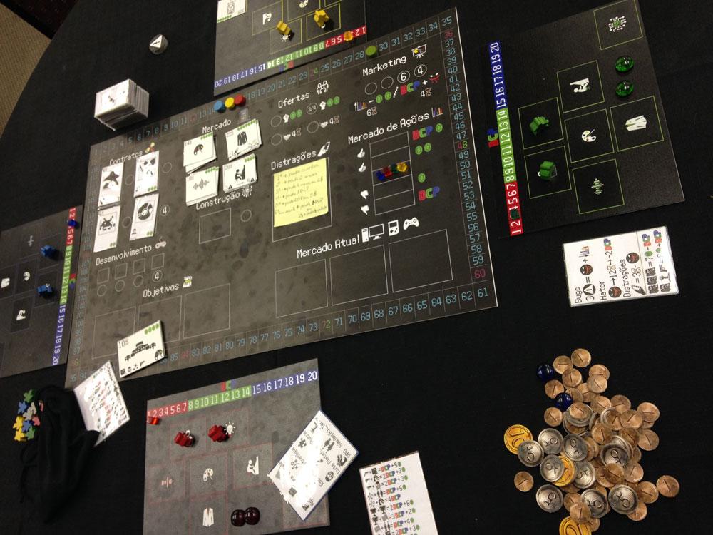 Houveram playtests de muitos tipos de jogos, entre eles, Videogame: The Boardgame