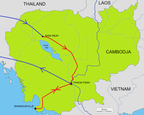 Route Rondreis Hoogtepunten Cambodja