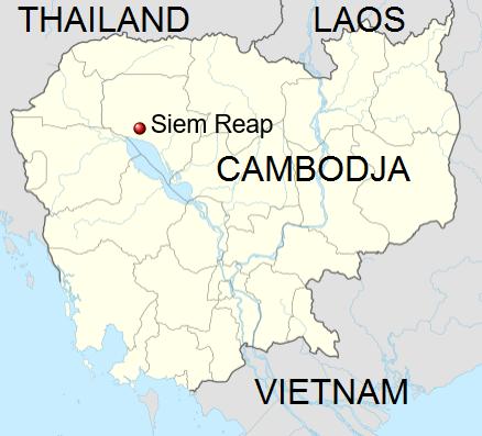 Locatie Siem Reap - Cambodja