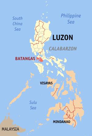 Locatie Batangas - Luzon, Filipijnen