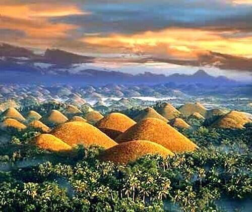 Chocolate Hills - Bohol, Central Visayas, Filipijnen