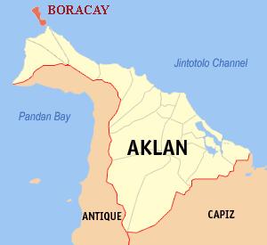 Locatie Boracay - Aklan, Western Visayas, Filipijnen