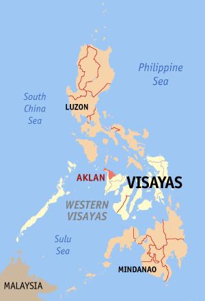 Ligging van de provincie Aklan in de Western Visayas, Filipijnen