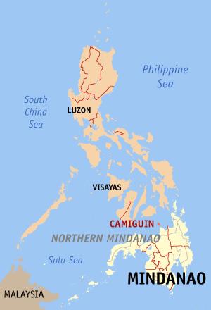 Locatie Camiguin - Northern Mindanao, Filipijnen