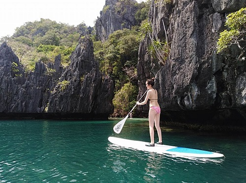 SUPPEN in de Bacuit Bay van El Nido, Palawan, Filipijnen