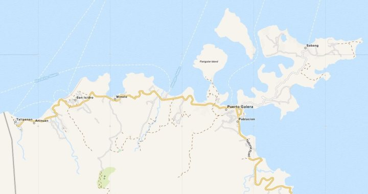 Kaart Puerto Galera, Luzon, Filipijnen